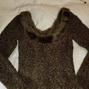 #187 N W/O T P Dina Bar-el brwn boucle & faux fur